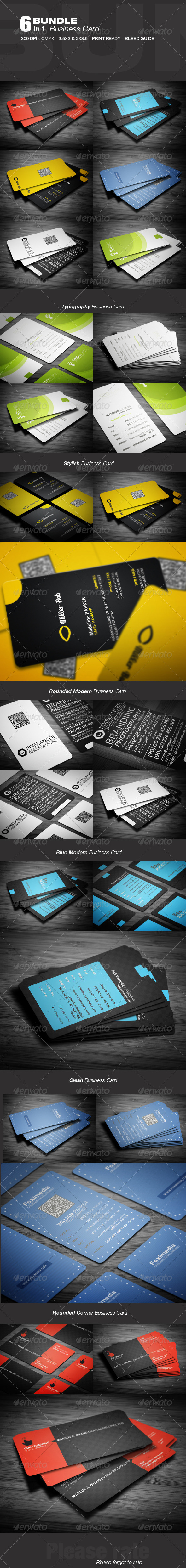 GraphicRiver Business Card Bundle v.1 3603213