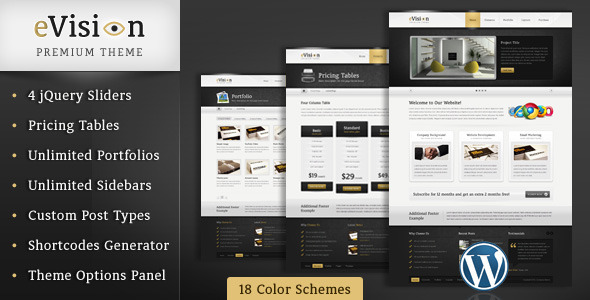 ThemeForest eVision Blog and Portfolio Wordpress Theme 2383081