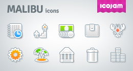 Malibu icons