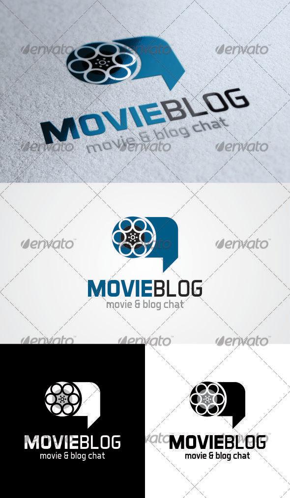 GraphicRiver Movie Blog Chat Logo 3603902