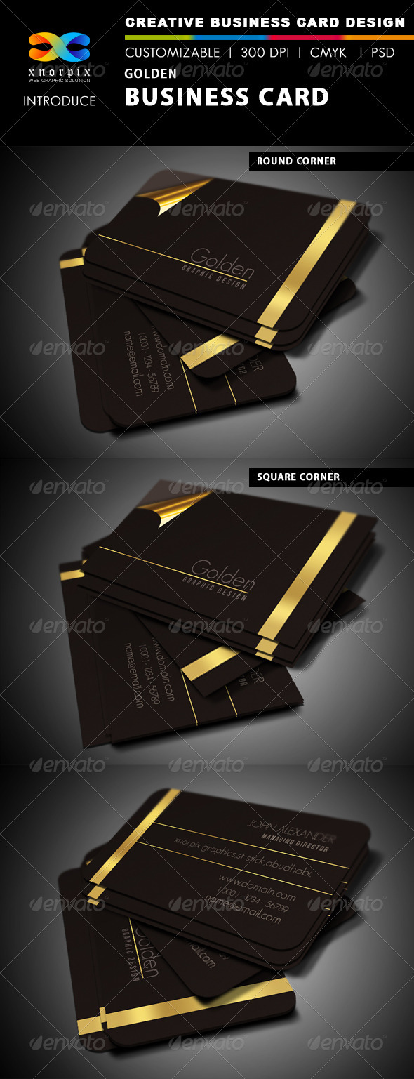 GraphicRiver Golden Business Card 153930