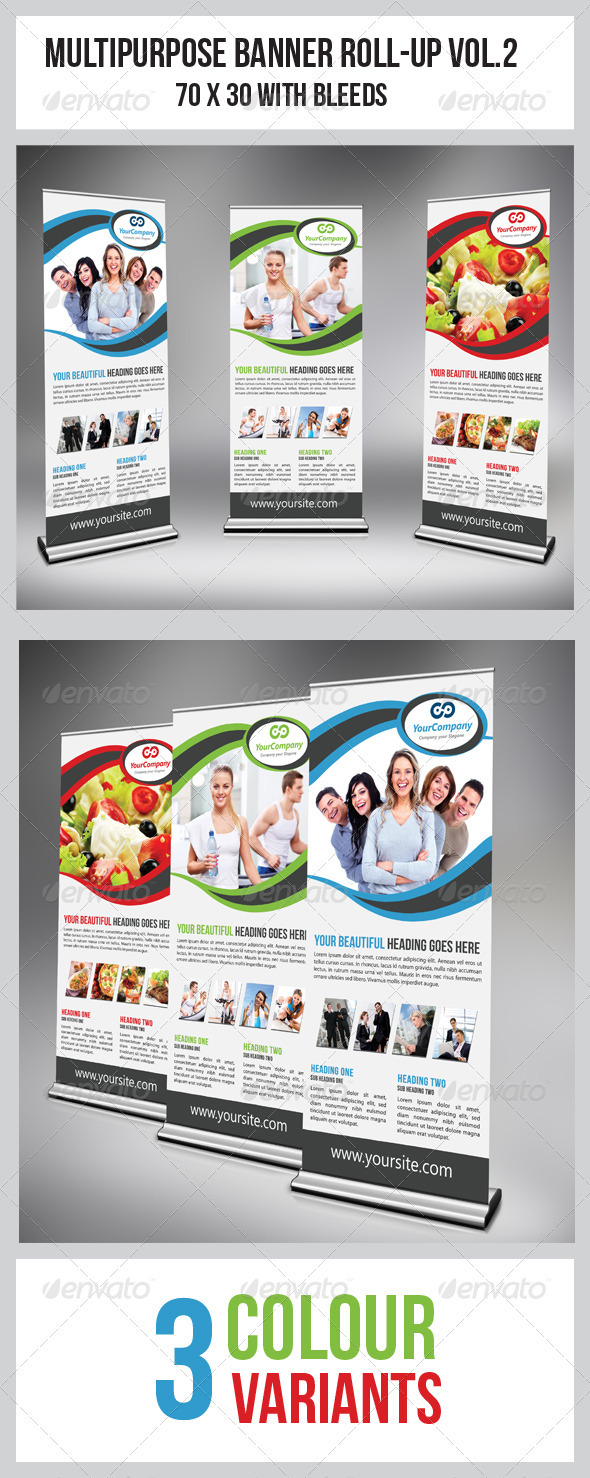 GraphicRiver Multipurpose Business Roll-Up Vol.2 3604536
