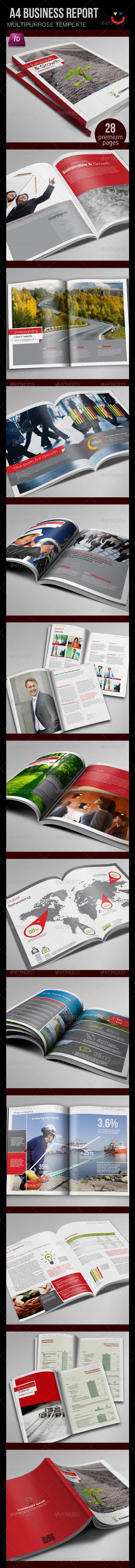 GraphicRiver Annual Report Design Template 3604605