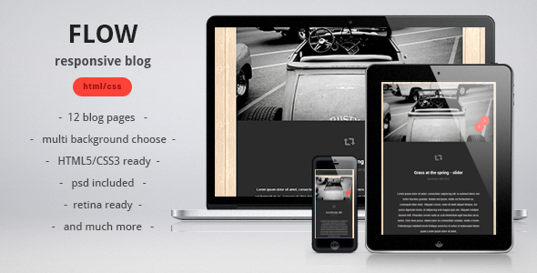 ThemeForest Flow responsive blog personal template 3604710