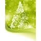 Christmas Halftone Tree on Green - GraphicRiver Item for Sale