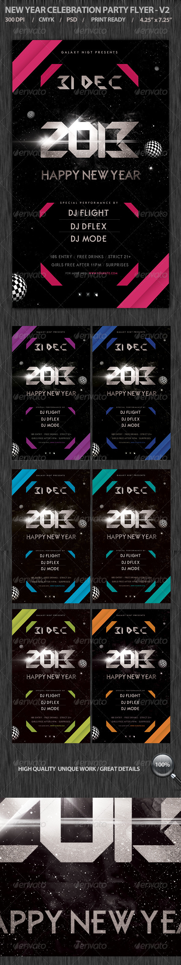 GraphicRiver New Year Eve Party Flyer V2 3605479
