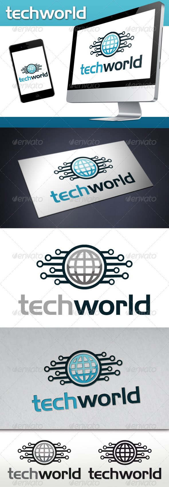 GraphicRiver Tech World Logo Template 3559002