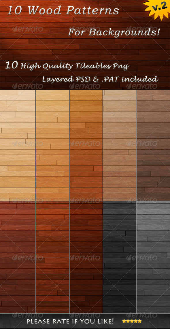 GraphicRiver 10 Tileable Wood Textures 3494921