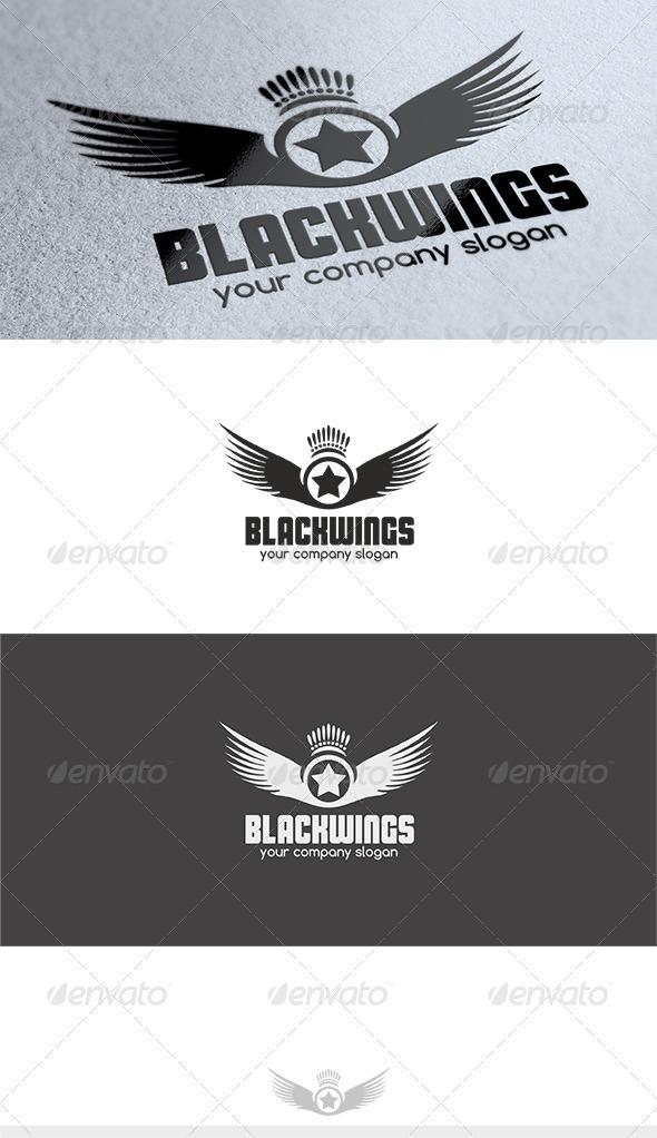 GraphicRiver Black Wings Logo 3606534