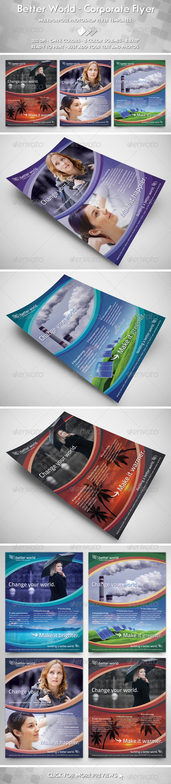 GraphicRiver Better World Flyer 3606936