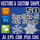 50Snowflake Element v2 Photoshop Custom Shapes - GraphicRiver Item for Sale