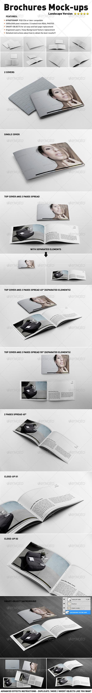 Photorealistic Landscape Brochure Mock-ups - Brochures Print
