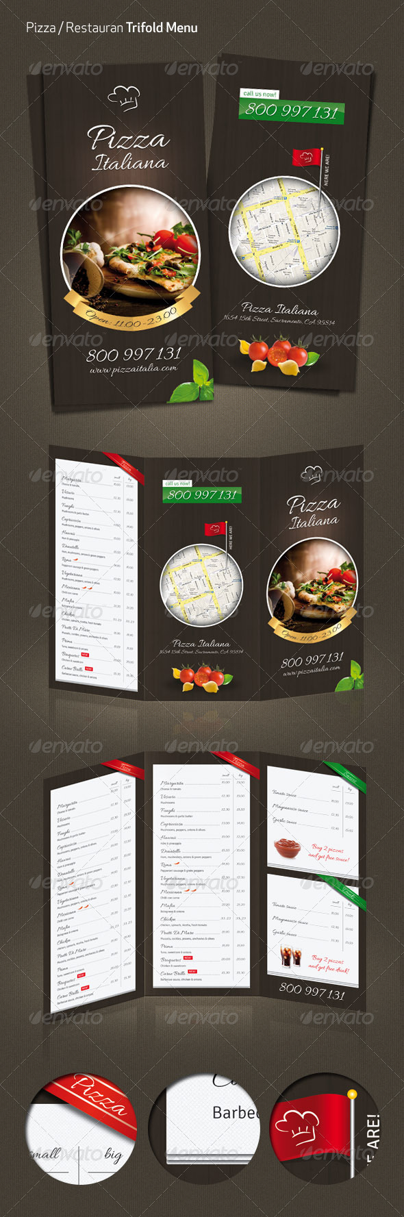 Pizza / Restaurant Menu - Food Menus Print Templates