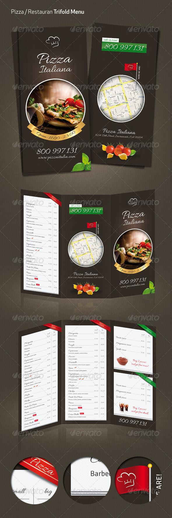 GraphicRiver Pizza Restaurant Menu 3607666