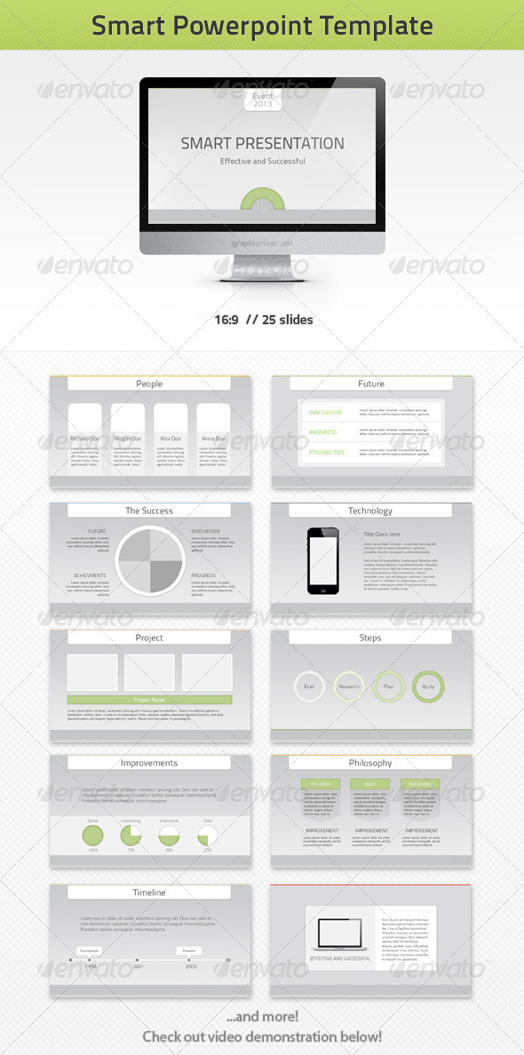 Smart PowerPoint Template - Powerpoint Templates Presentation Templates