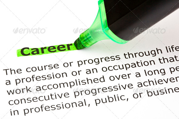 Career highlighted in green - Stock Photo - Images