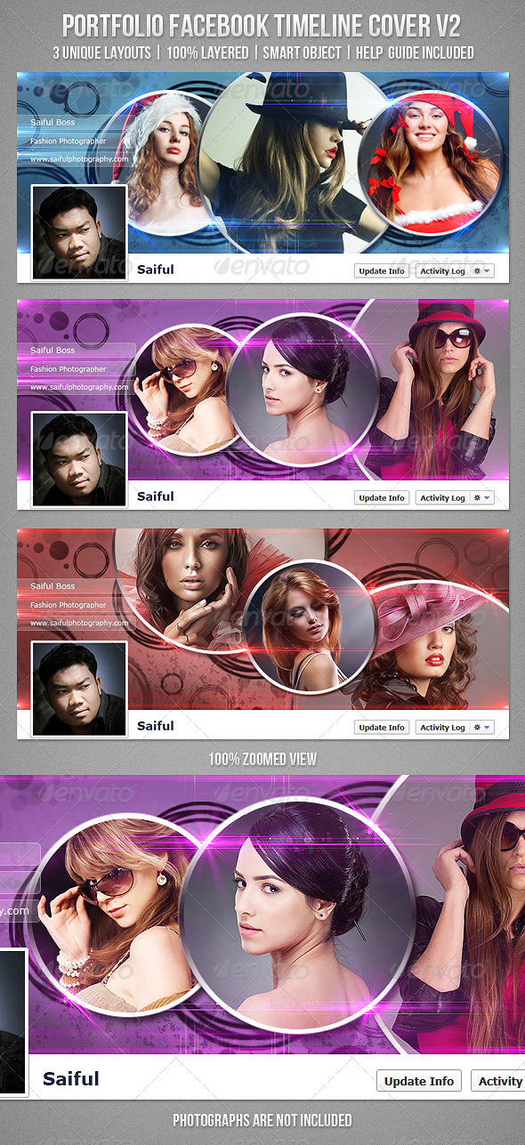 GraphicRiver Portfolio FB Timeline Cover V2 3608504