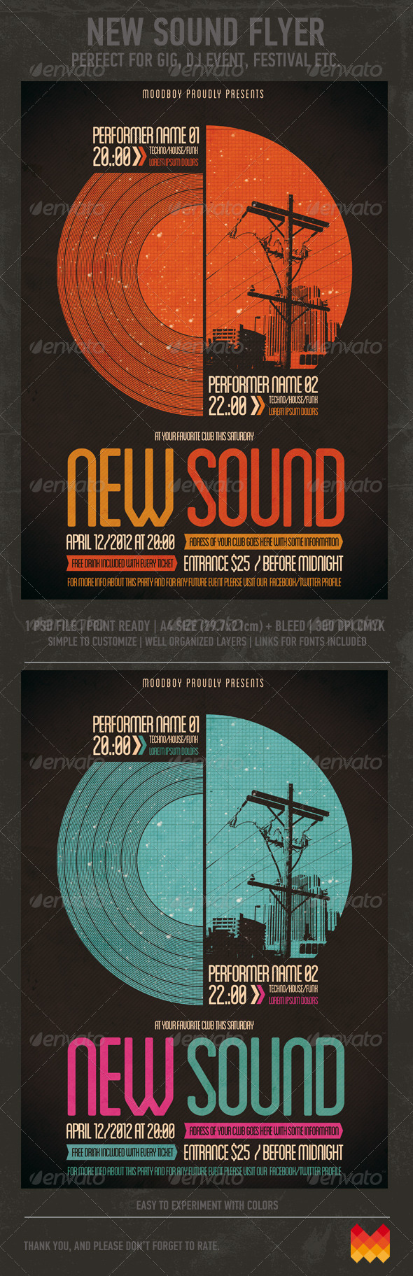 GraphicRiver New Sound Flyer Poster 3608573