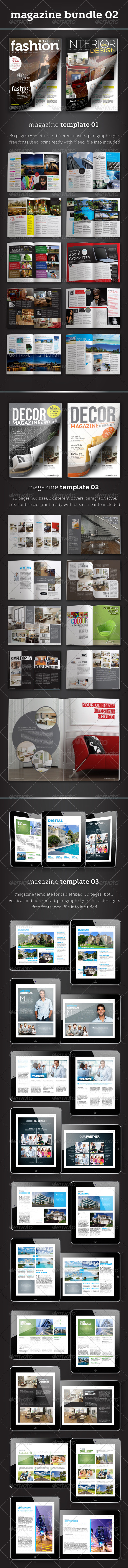 GraphicRiver Magazine Bundle 02 3608730