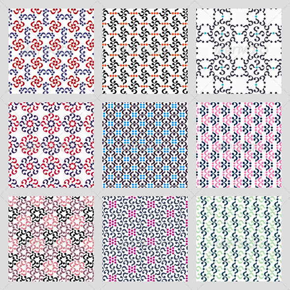 GraphicRiver Simple Vector Seamless Patterns 3452949