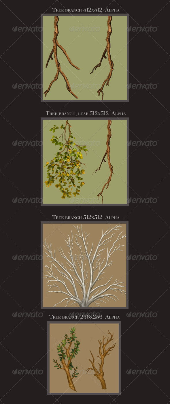 3DOcean Tree Textures Branch Leaf alpha 3609144