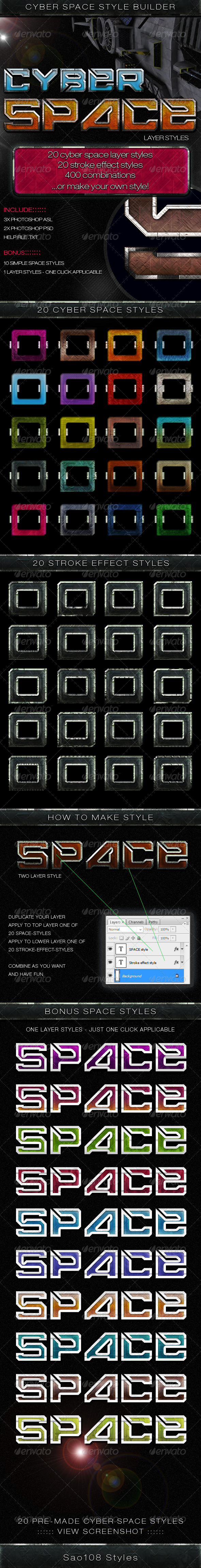 GraphicRiver Cyber Space Style Builder 3571315