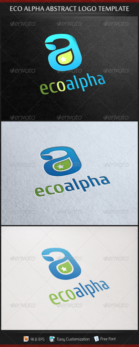 GraphicRiver Eco Alpha Abstract Logo Template 3610078