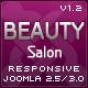 Beauty Salon Responsive Joomla Template  Free Download
