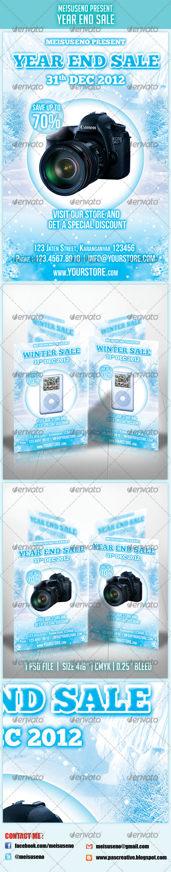 GraphicRiver Year End Sale Flyer 3610397