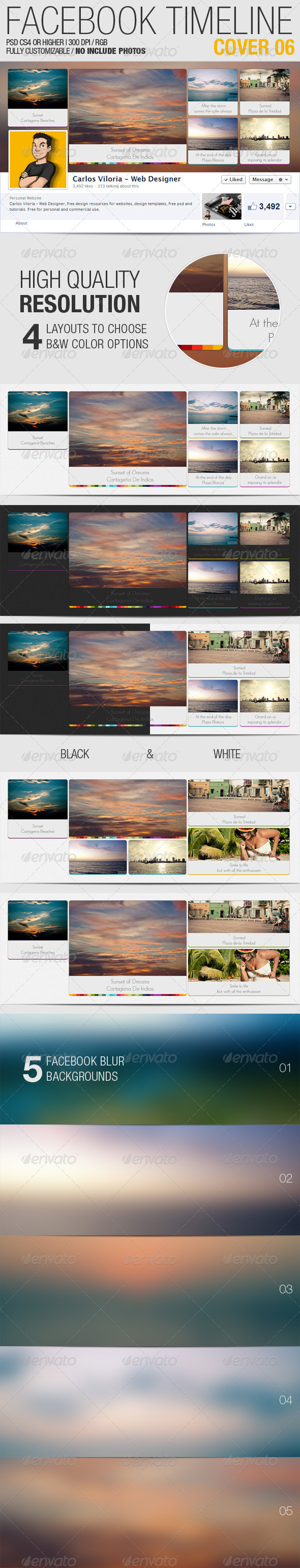 GraphicRiver Facebook Timeline Cover 06 3610516