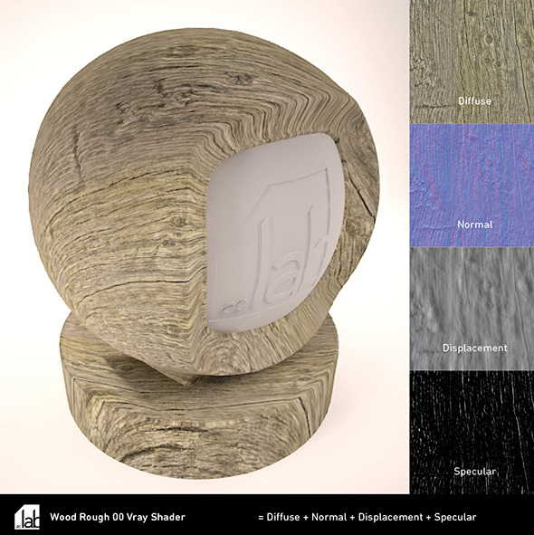 Rough Wood VRay Shader - 3DOcean Item for Sale