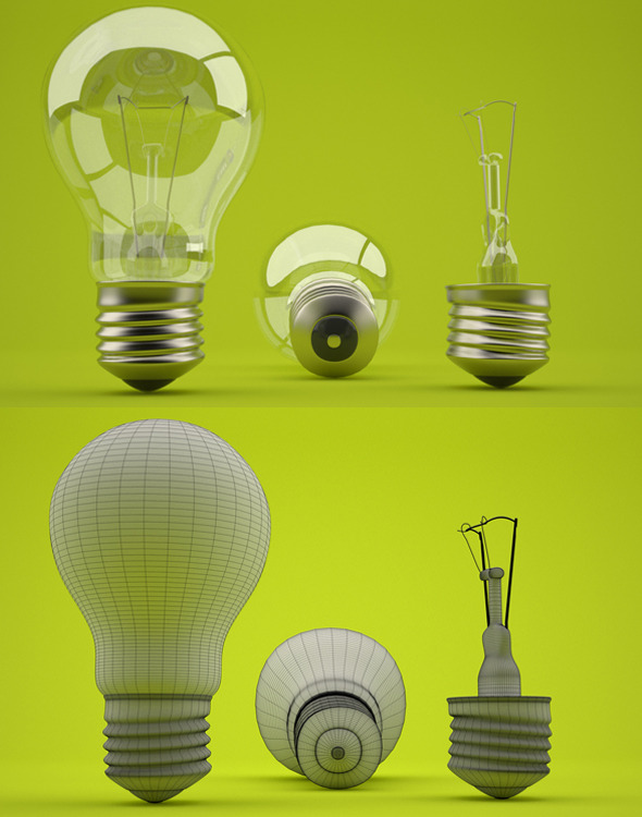 Realistic light bulb - 3DOcean Item for Sale