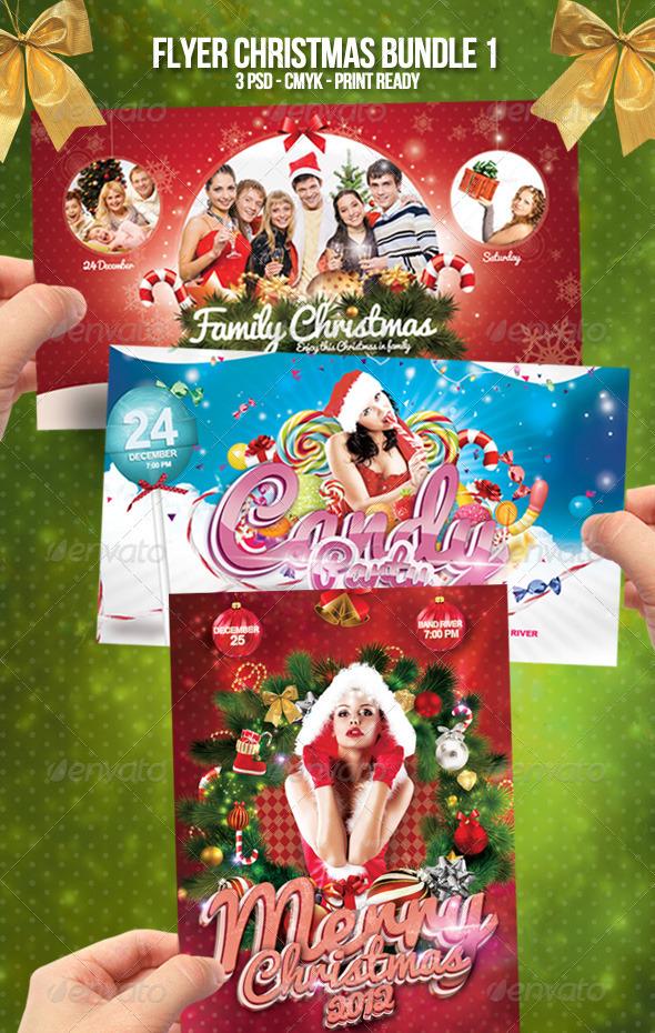 GraphicRiver Flyer Christmas Bundle 1 3610937