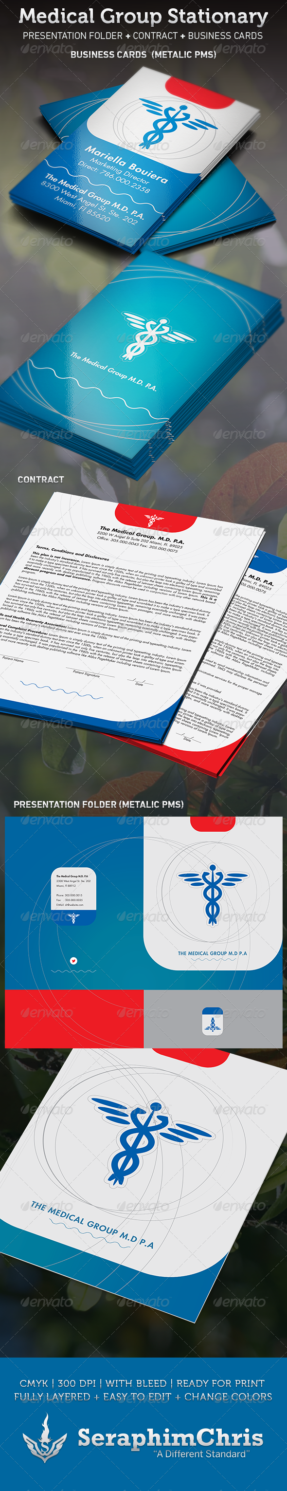 GraphicRiver Medical Group Stationary Template 3562705