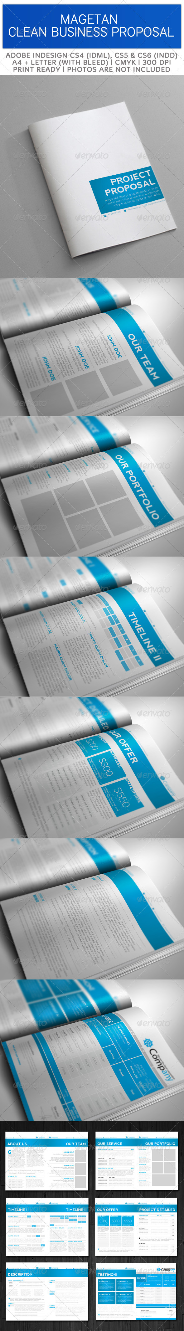 GraphicRiver Magetan Clean Proposal Template 3611067
