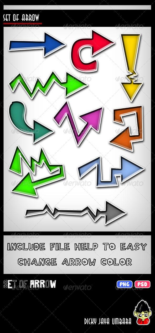Arrow Set  - Decorative Symbols Decorative