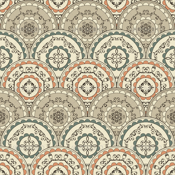 GraphicRiver Vector Seamless Vintage Oriental Pattern 3611788