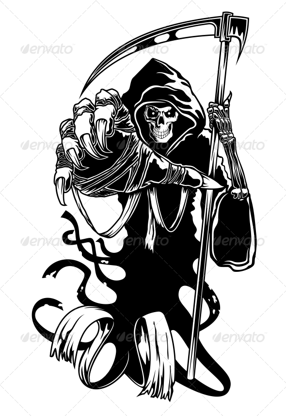 GraphicRiver Black Death with Scythe 3612093