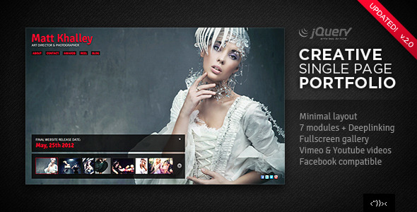 Creative Single Page Portfolio - 