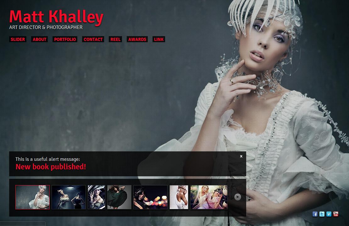 Creative Single Page Portfolio