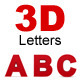 Alphabet - Letter set in 3D and two colors