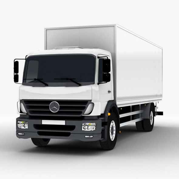 Commercial Truck Mercedes - 3DOcean Item for Sale