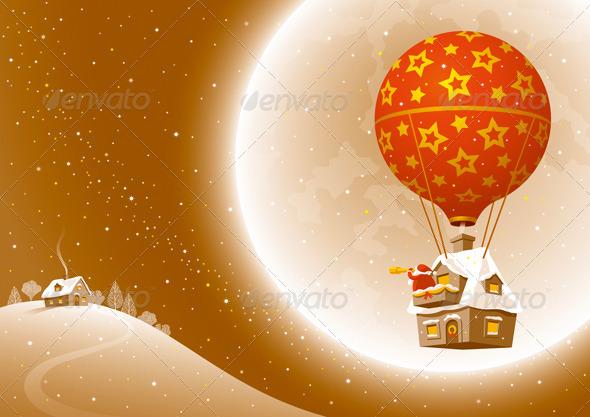 Santa's Christmas Flight - Christmas Seasons/Holidays