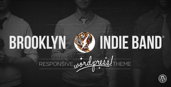 ThemeForest Brooklyn Indie Band Responsive Wordpress Theme 3612693