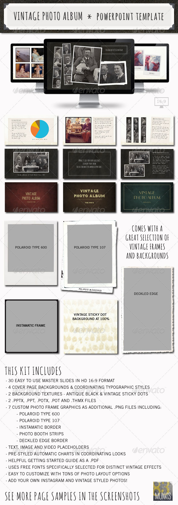 GraphicRiver Vintage Photo Album Powerpoint Template 3612785