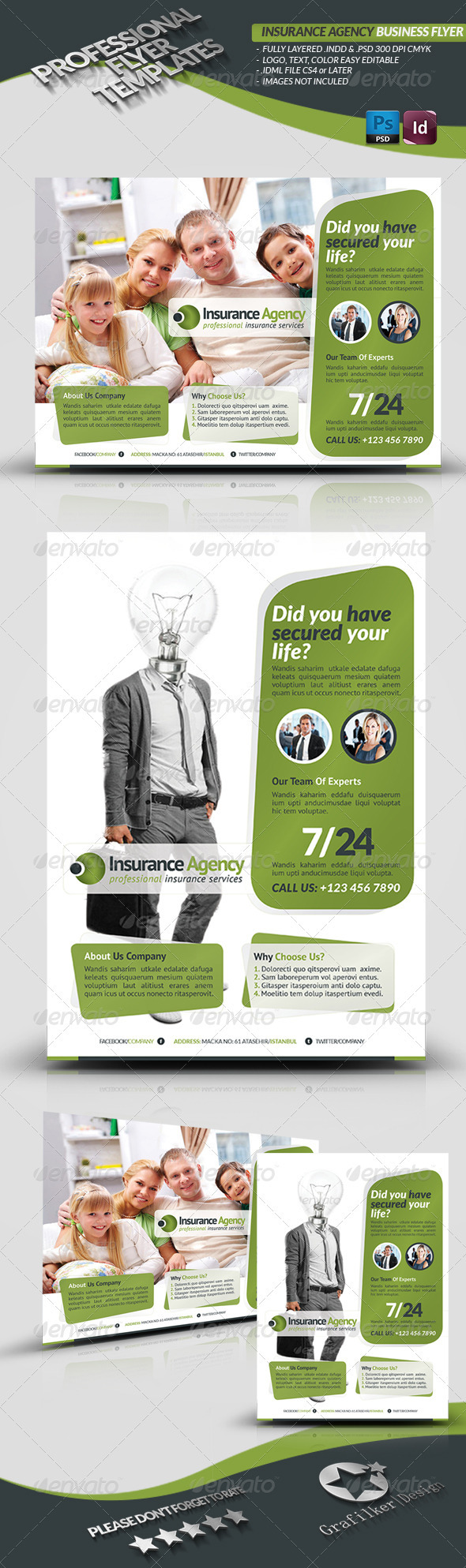 GraphicRiver Insurance Agency Flyer 3613856