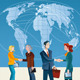 Business People and World Map - GraphicRiver Item for Sale