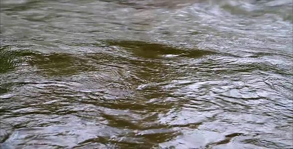 Slow Motion River Flow