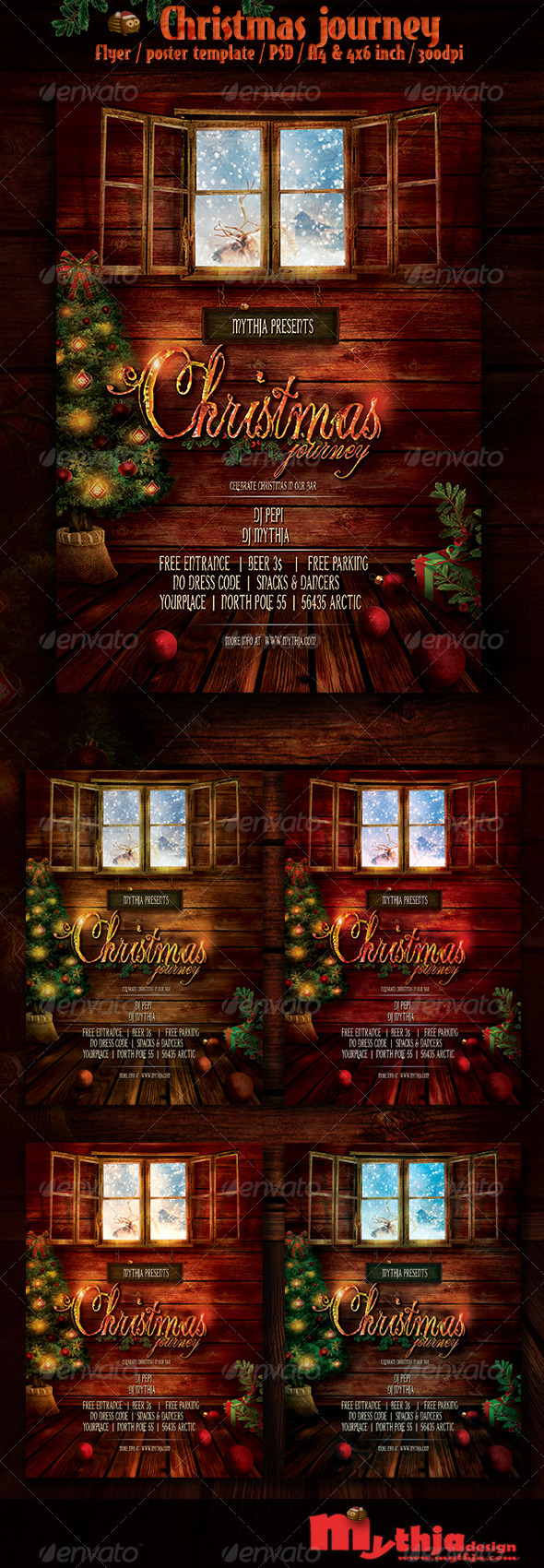 GraphicRiver Christmas Journey Event Flyer Poster Template 3574891