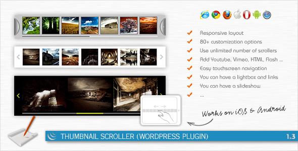 CodeCanyon Thumbnail Scroller WordPress Plugin 2068683